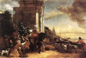 Jan Baptist Weenix - Departure of an Oriental Entourage