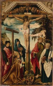 Hans Wertinger - Crucifixion with Saints and Donor