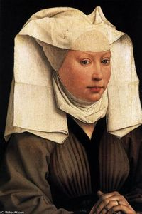 Rogier Van Der Weyden - Lady Wearing a Gauze Headdress
