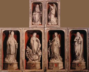 Rogier Van Der Weyden - Wing of a Carved Altar