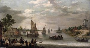 Adam Willaerts - River Scene with Boats