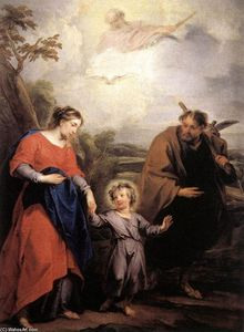 Jacob De Wit - Holy Family and Trinity