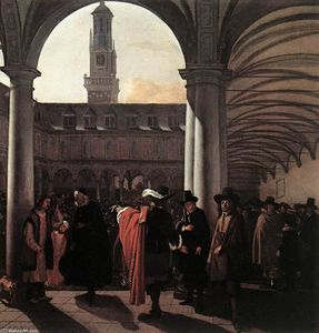 Emanuel De Witte - The Courtyard of the Old Exchange in Amsterdam