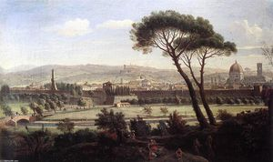 Gaspar Van Wittel (Caspar Andriaans Van Wittel) - View of Florence from the Via Bolognese