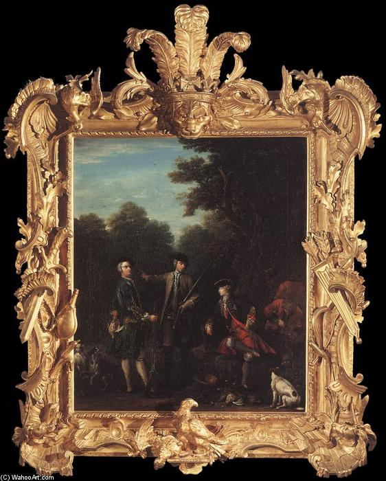 The Shooting Party, 1740 by John Wootton (1682-1764, United Kingdom) | Museum Quality Reproductions | WahooArt.com