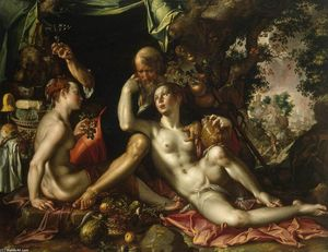 Joachim Antonisz Wtewael - Lot and his Daughters