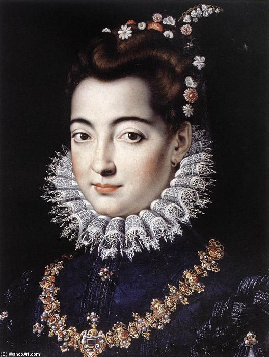 Portrait of a Lady, 1570 by Jacopo Zucchi (1542-1596, Italy) | Famous Paintings Reproductions | WahooArt.com
