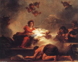 Jean-Honoré Fragonard - Adoration of the Shepherds