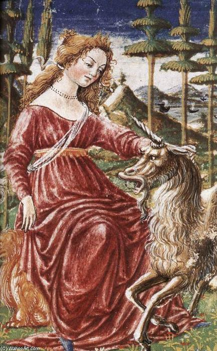 Chastity with the Unicorn, 1463 by Francesco Di Giorgio Martini (1439-1502, Italy) | Art Reproduction | WahooArt.com