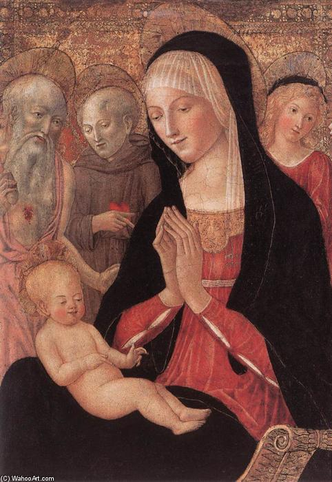 Order Art Reproduction : Madonna and Child with Saints and Angels, 1469 by Francesco Di Giorgio Martini (1439-1502, Italy) | WahooArt.com