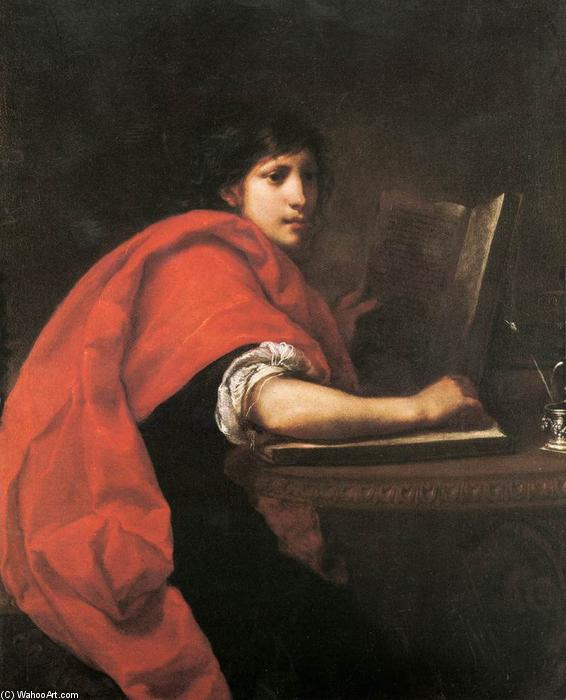 St John the Evangelist, Oil On Canvas by Francesco Furini (1603-1646, Italy)