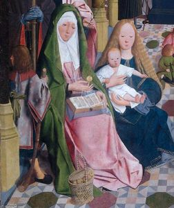 Geertgen Tot Sint Jans - The Holy Kinship (detail) (11)