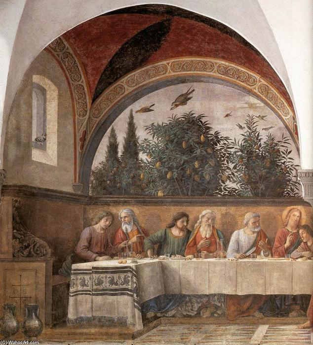 Last Supper (detail) (13), Frescoes by Domenico Ghirlandaio (1449-1494, Italy)