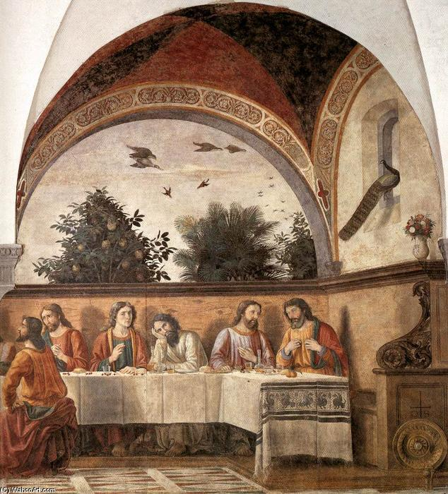 Last Supper (detail) (14), Frescoes by Domenico Ghirlandaio (1449-1494, Italy)