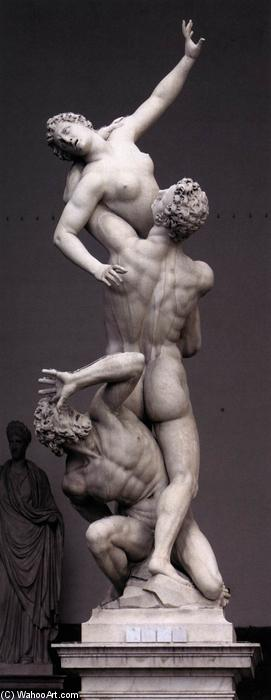 Rape of the Sabines (12), 1581 by Giambologna (1529-1608, France) | Famous Paintings Reproductions | WahooArt.com