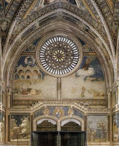 Giotto Di Bondone - Frescoes on the inside wall of the façade