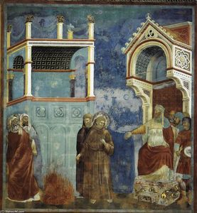 Giotto Di Bondone - Legend of St Francis: 11. St Francis before the Sultan (Trial by Fire)