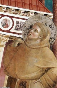 Giotto Di Bondone - Legend of St Francis: 6. Dream of Innocent III (detail)