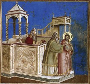 Giotto Di Bondone - No. 1 Scenes from the Life of Joachim: 1. Rejection of Joachim-s Sacrifice