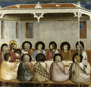 Giotto Di Bondone - No. 29 Scenes from the Life of Christ: 13. Last Supper