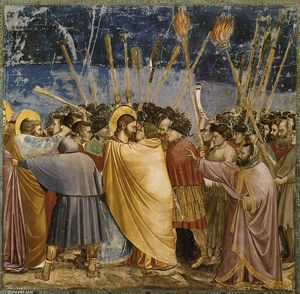Giotto Di Bondone - No. 31 Scenes from the Life of Christ: 15. The Arrest of Christ (Kiss of Judas)