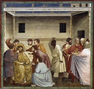 Giotto Di Bondone - No. 33 Scenes from the Life of Christ: 17. Mocking of Christ
