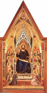 Giotto Di Bondone - The Stefaneschi Triptych: Christ Enthroned