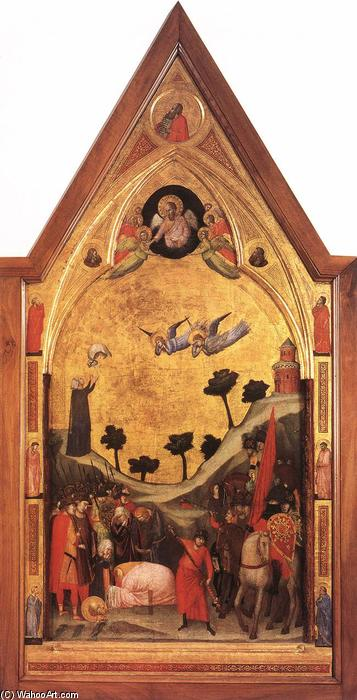Order Art Reproductions | The Stefaneschi Triptych: Martyrdom of St Paul, 1330 by Giotto Di Bondone (1267-1337, Italy) | WahooArt.com