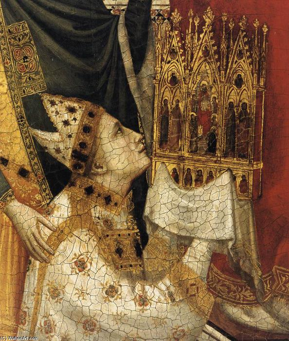 The Stefaneschi Triptych: St Peter Enthroned (detail), 1330 by Giotto Di Bondone (1267-1337, Italy) | Art Reproductions Giotto Di Bondone | WahooArt.com