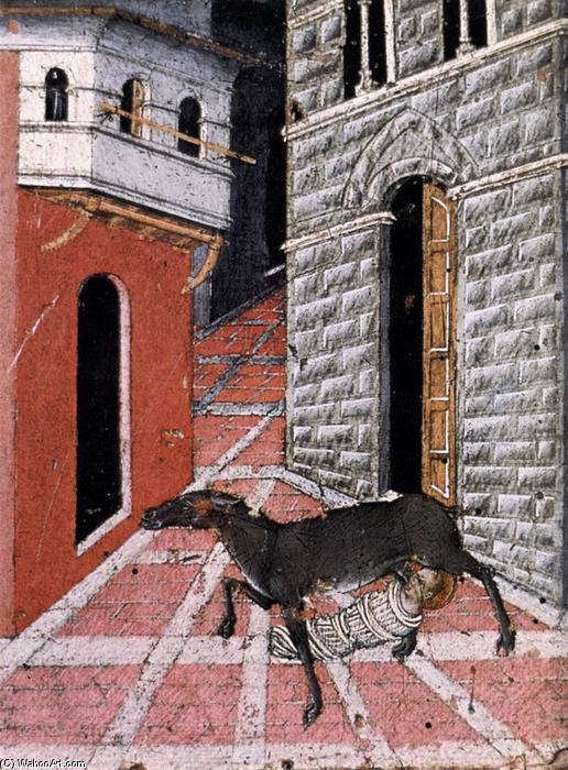 St Stephen Suckled by a Doe, Tempera by Giovanni Di Paolo (1403-1482, Italy)
