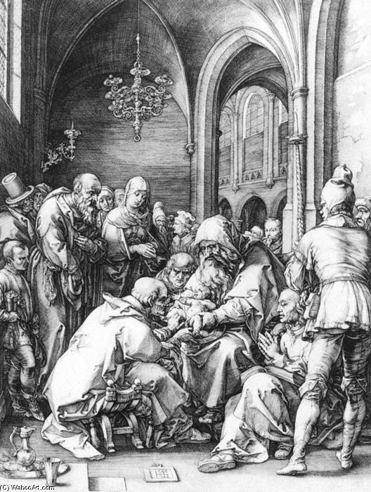 Order Paintings Reproductions | Circumcision in the Church of St Bavo at Haarlem, 1594 by Hendrick Goltzius (1558-1617, Italy) | WahooArt.com