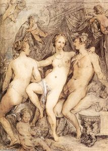 Hendrick Goltzius - Venus between Ceres and Bacchus