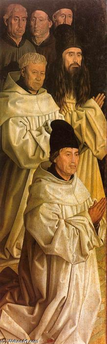 Order Art Reproductions | Altarpiece of Saint Vincent, the panel of the Monks, 1460 by Nuno Gonçalves (1420-1490, Portugal) | WahooArt.com
