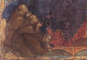 Duccio Di Buoninsegna - Madonna of the Franciscans (detail)