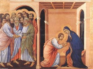 Duccio Di Buoninsegna - Parting from St John