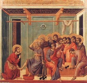 Duccio Di Buoninsegna - Washing of the Feet