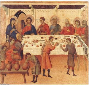 Duccio Di Buoninsegna - Wedding at Cana