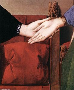 Jan Van Eyck - Portrait of Giovanni Arnolfini and his Wife (detail) (26)