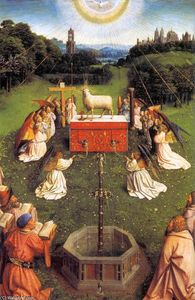 Jan Van Eyck - The Ghent Altarpiece: Adoration of the Lamb (detail) (30)
