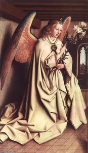 Jan Van Eyck - The Ghent Altarpiece: Angel of the Annunciation