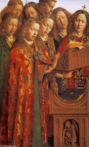 Jan Van Eyck - The Ghent Altarpiece: Singing Angels (detail)