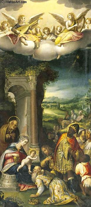 The Adoration of the Magi, Oil On Copper by Prospero Fontana (1512-1597, Italy)