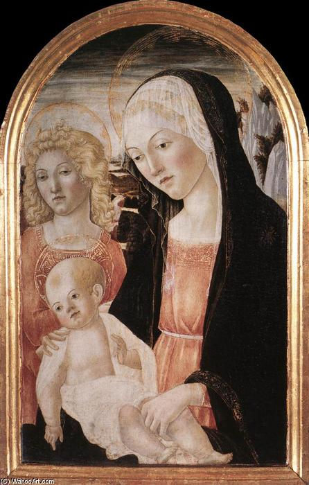 Madonna and Child with an Angel, 1471 by Francesco Di Giorgio Martini (1439-1502, Italy) | Oil Painting | WahooArt.com