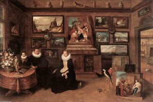 Frans Francken The Younger - Sebastiaan Leerse in his Gallery