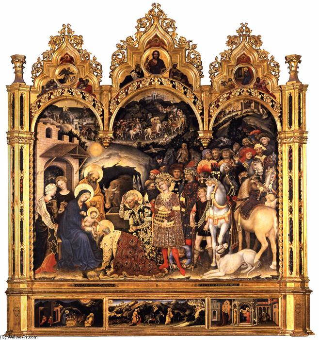 Adoration of the Magi (10), 1423 by Gentile Da Fabriano (1370-1427, Italy) | Art Reproduction | WahooArt.com