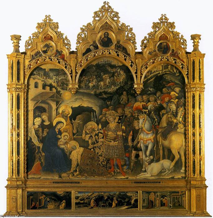 Adoration of the Magi (11), 1423 by Gentile Da Fabriano (1370-1427, Italy) | Painting Copy | WahooArt.com
