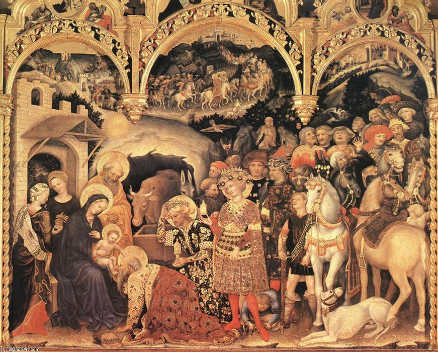 Adoration of the Magi (12), Tempera by Gentile Da Fabriano (1370-1427, Italy)