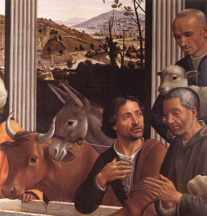 Adoration of the Shepherds (detail) (10), Panel by Domenico Ghirlandaio (1449-1494, Italy)