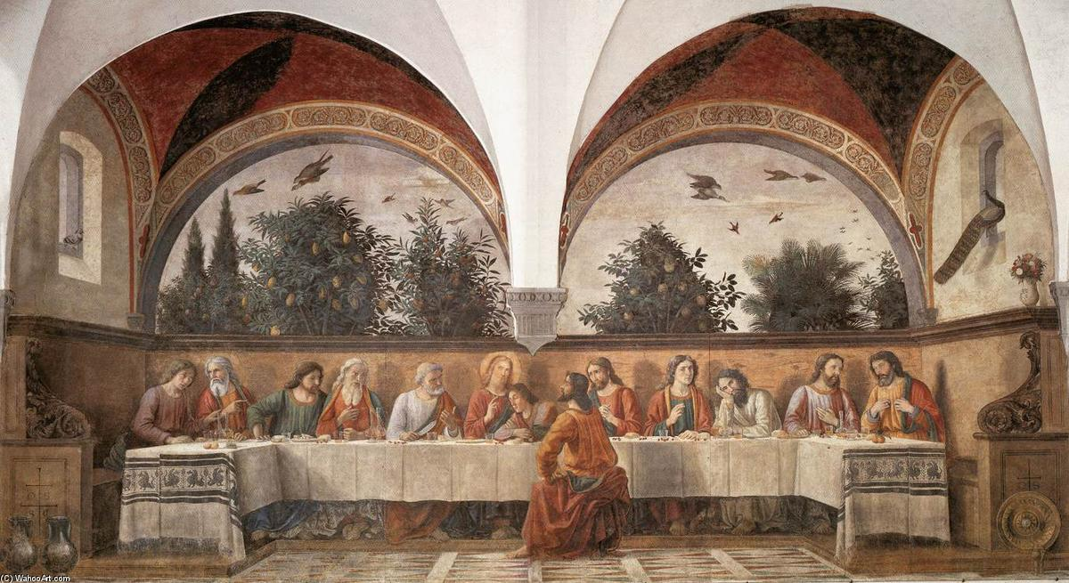 Last Supper (11), 1480 by Domenico Ghirlandaio (1449-1494, Italy) | Museum Quality Reproductions | WahooArt.com