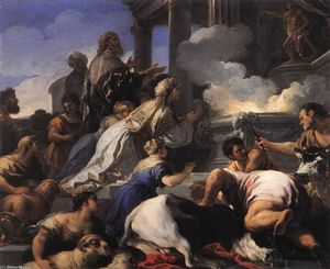 Luca Giordano - Psyche-s Parents Offering Sacrifice to Apollo